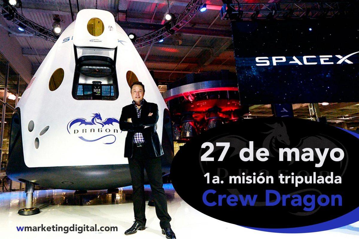 La NASA y SpaceX anuncian el primer vuelo tripulado del Crew Dragon