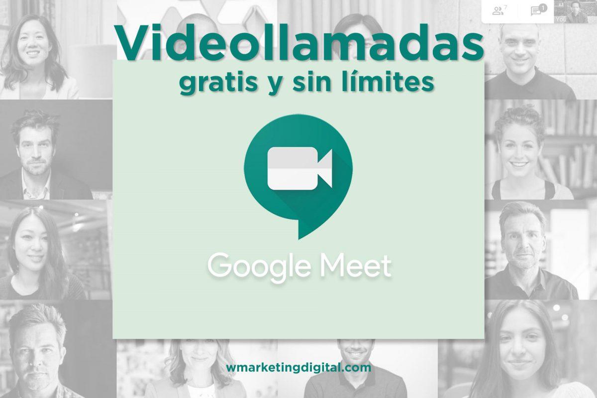 Videollamadas gratis y sin límites con Google Meet